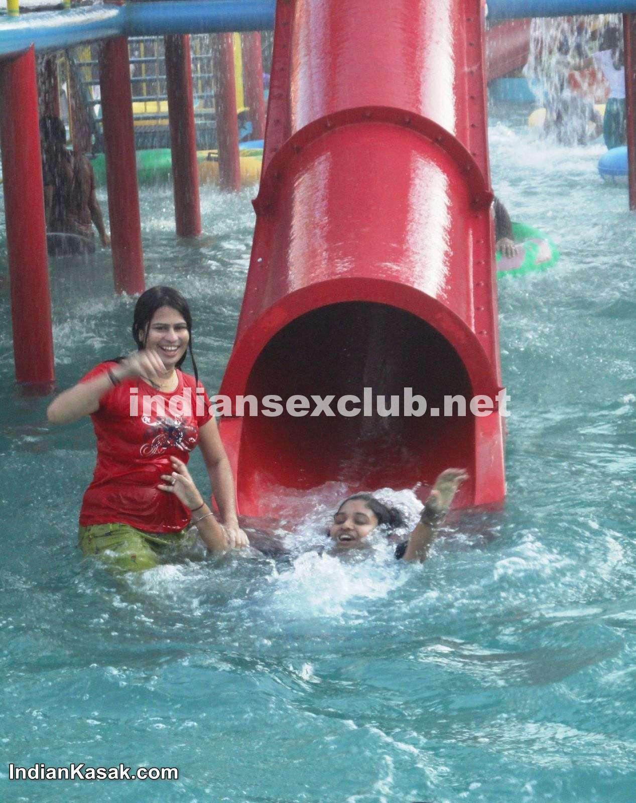 Water at hot park girls