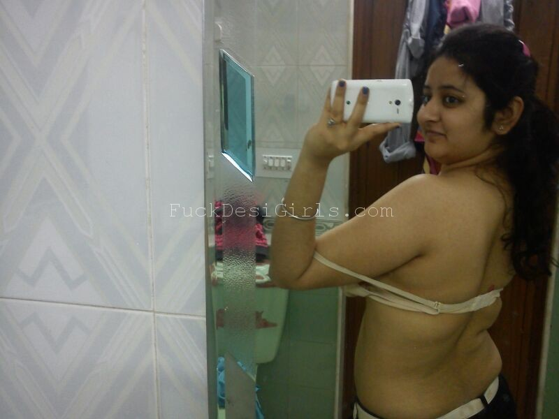 Boob mirror naked girl big